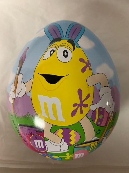 ???? M&M Screaming Yellow Easter Egg Tin (Opened) / M&M Stuff Box# 98