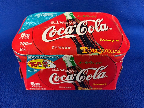1999 Coca-Cola 6 Pack from Japan Coke Cans
