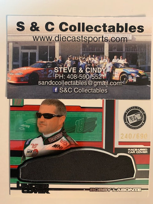 2004 Race-Used Car Cover / Bobby Labonte Cards