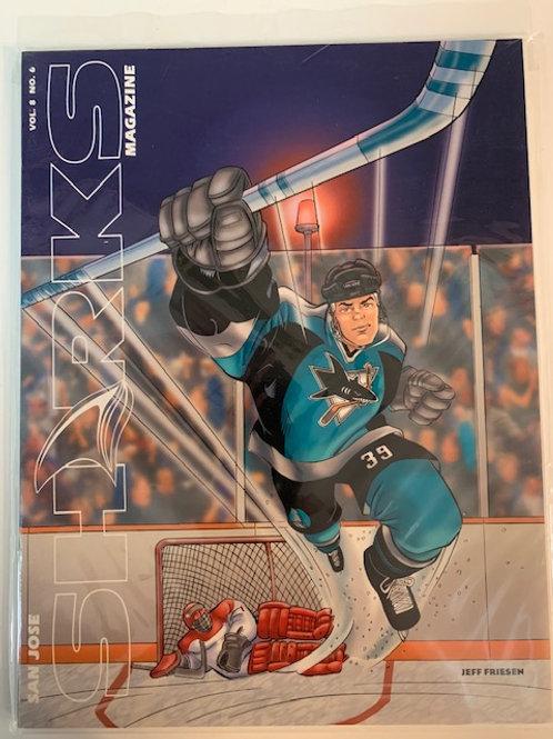 1998 San Jose Sharks Magazine Vol. 8 No.6 / Jeff Friesen
