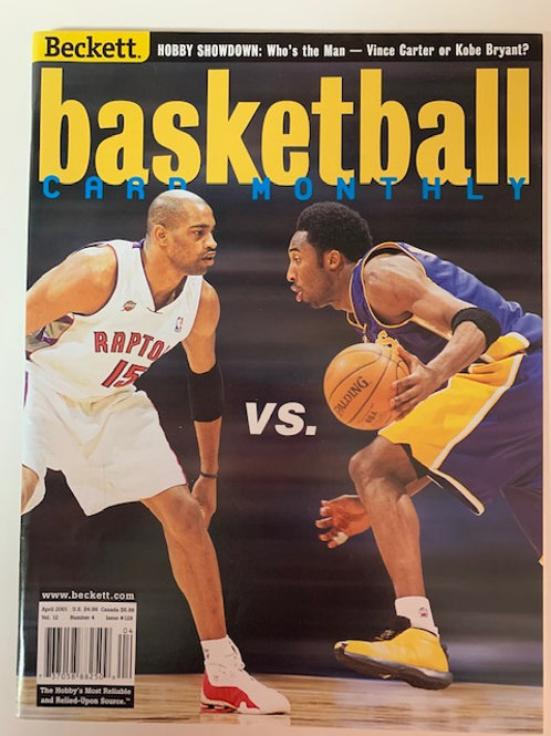 2001 Beckett Card Monthly Issue# 129 Kobe Bryant - Vince Carter  / Basketball