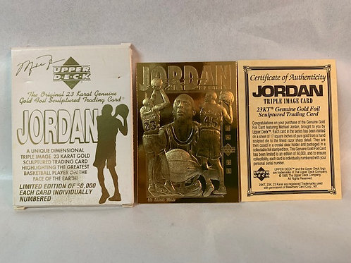 1995 The Original 23 Karat Gold Card / Michael Jordan Drawer# 1