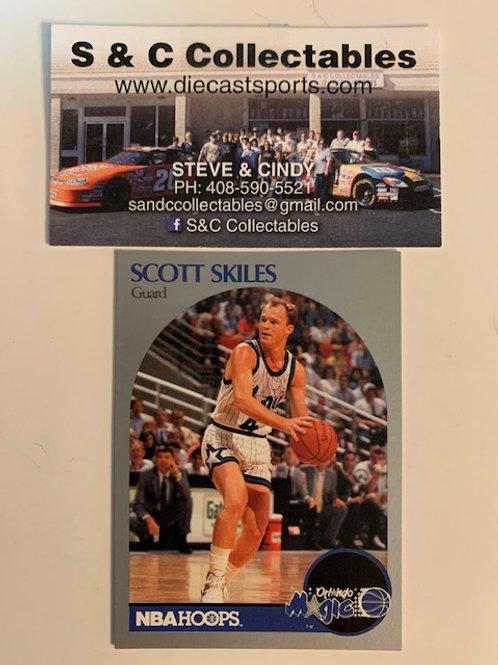 1990-91 NBA Hoops Scott Skiles Guard Card# 220 / Basketball-BK