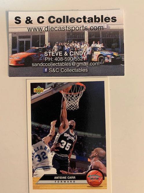 1992-93  Upper Deck Antoine Carr  Forward Card# P36  / Basketball--BK1