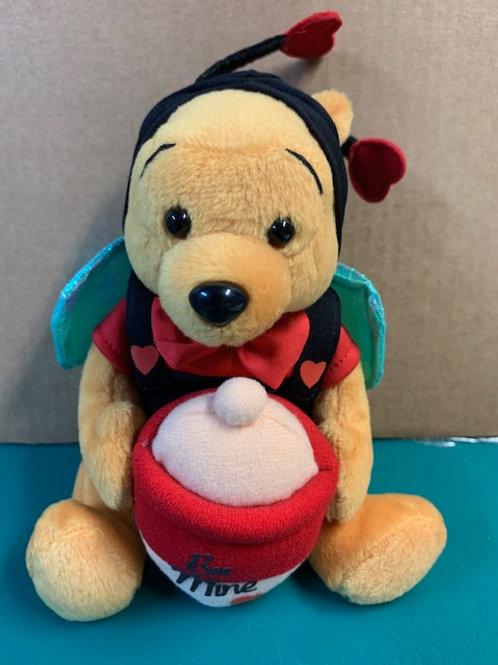 Disney Beanies Winnie the Pooh Red Sweater Be my Valentine Day