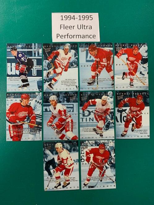 1994-95 Fleer Ultra (Performance) 10 Card Set (Hockey)  Box# CC