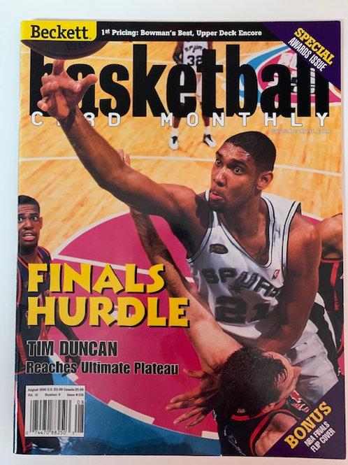1999 Beckett Card Monthly Issue# 109 Tim Duncan /  Basketball