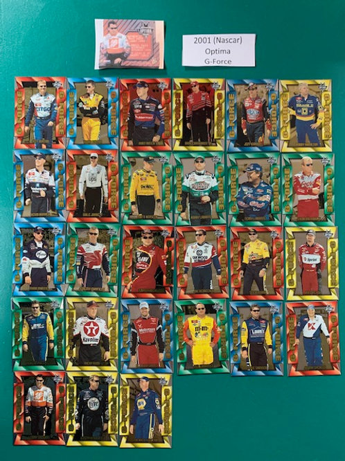 2001 Optima (G-Force) 27 Card Set (Nascar) Box# BB