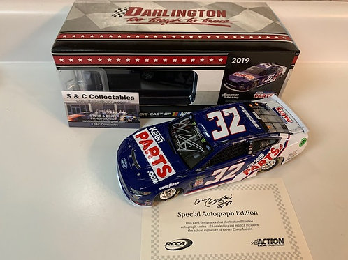 2019 Autographed Keen Parts Darlington / Corey LaJoie 1:24  Wall