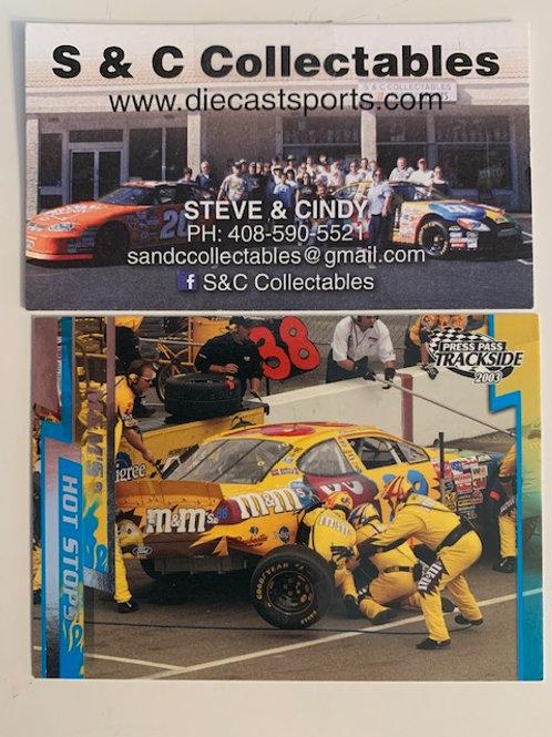 2003 Press Pass Trackside  M&M's Hot Stops Sliver Elliott Sadler / Cards Box#FF