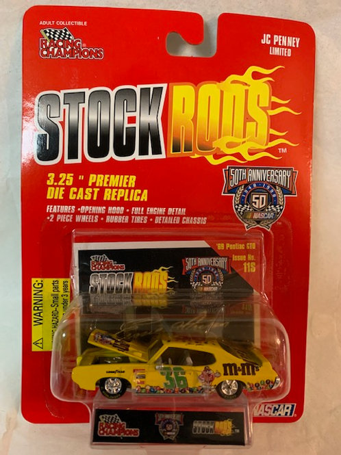 1998 M&M's 1969 Pontiac  GTO Stock Rods / Ernie Irvan 1:64 Box#14