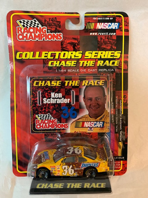 2001 Snickers Cruncher Chase the Race  / Ken Schrader 1:64 Box#36