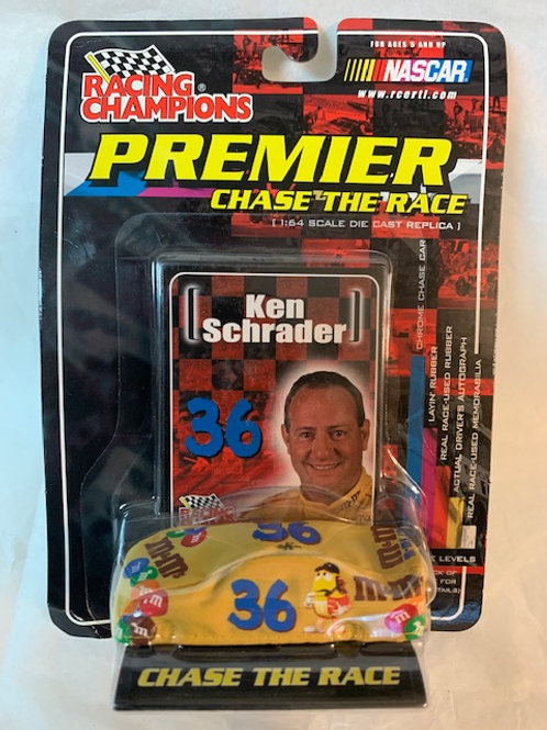 2001 M&M's Car with Car Cover / Ken Schrader 1:64 Box# 3