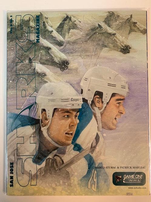 1999 San Jose Sharks Magazine Vol. 9 No  .2 / Marco Sturm & Patrick Marleau