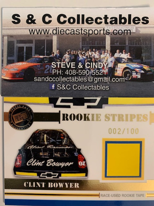 2006 Raced-Used  Piece of Rookie Stripes Tape / Clint Bowyer Cards
