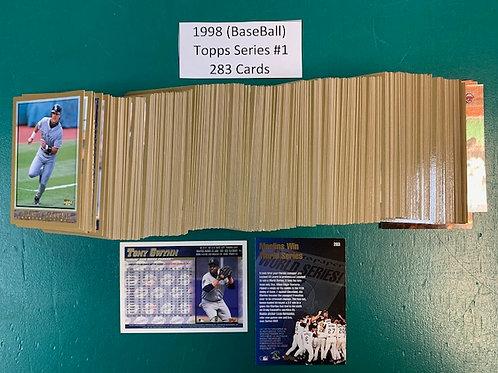 1998 Topps Series #1 Complete Set 1-283 / Baseball   Box# B1
