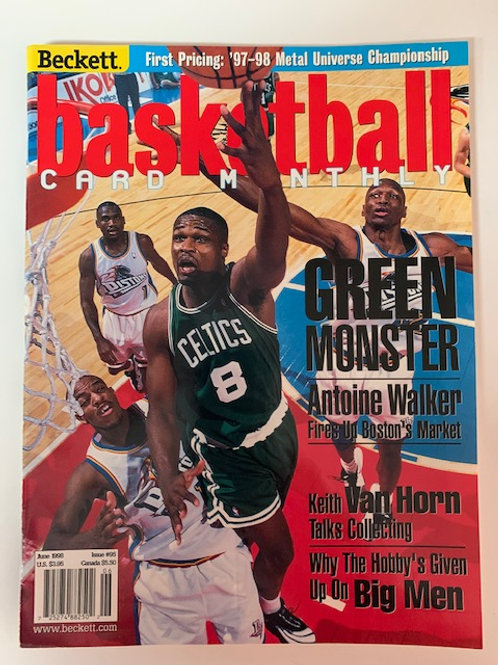1998  Beckett Card Monthly Issue# 95 Walker & Van Horn /  Basketball