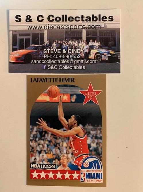 1991-92 NBA Hoops Lafayette Lever Guard  Card# 20  / Basketball-BK1
