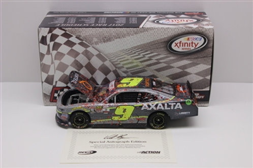 2017 Autographed Axalta-Daytona Raced Win / William Byron 1:24  Wall