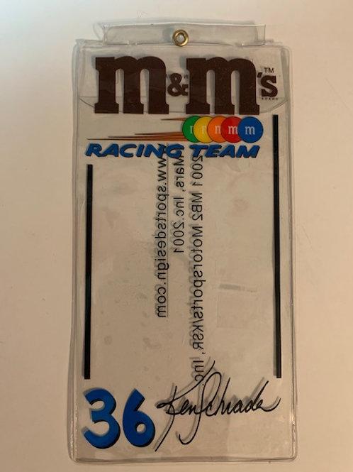 2001 M&M's Credential Holder /  Ken Schrader  Box# 100