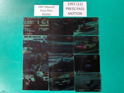 1997 Press Pass (Motion) 12  Card Set (Nascar) Box# BB