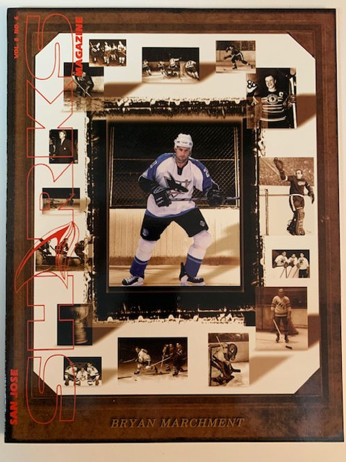 1998 San Jose Sharks Magazine Vol. 8 No.4 /Bryan Marchment