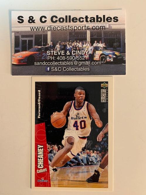 1996-97 Upper Deck Calbert Cheaney F/Guard Card# 162 / Basketball--BK1
