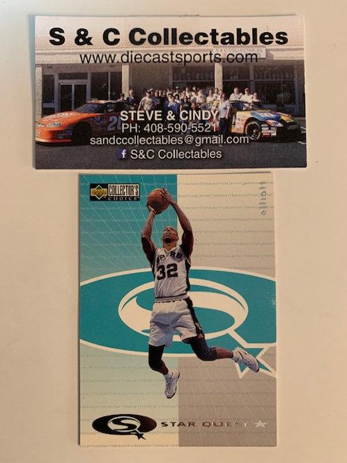1997-98 Upper Deck Sean Elliott Spurs Card# sq6 / Basketball-BK1
