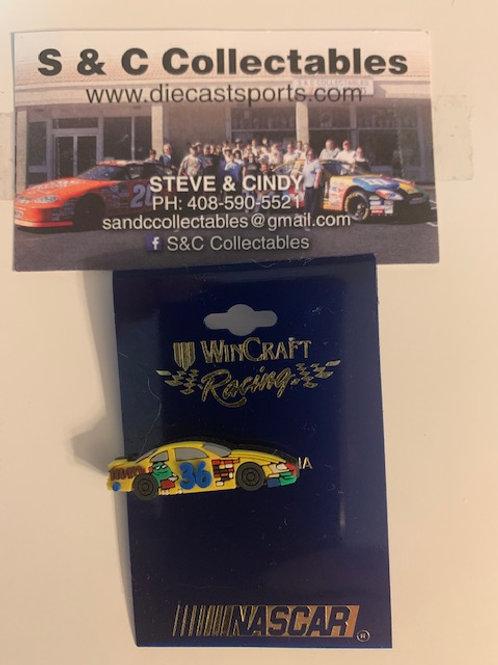 2002 M&M's Car Hat Pins / Ken Schrader  Hat Pit #5