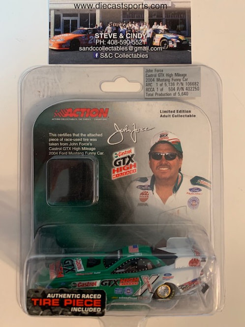 2004 Castrol GTX with Authentic Tire Piece / John Force 1:64