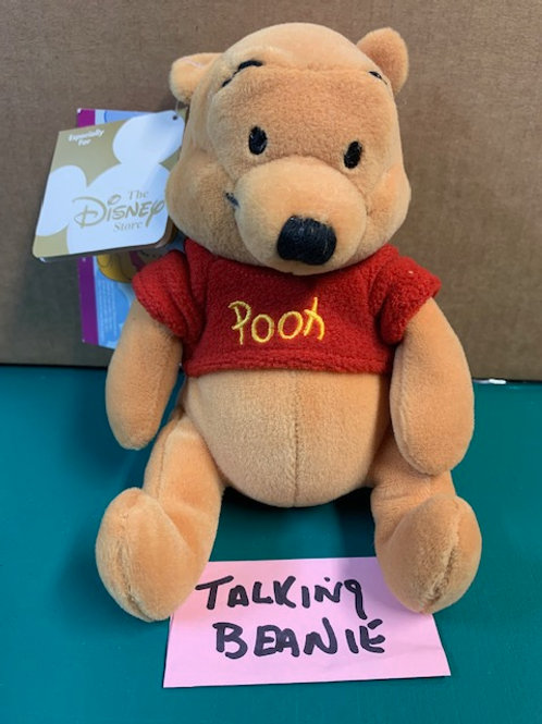 """Disney Beanies Willie the Pooh With Sound 8"""""""