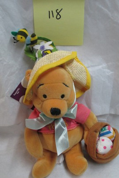 "Easter Bonnet Pooh 8"" / Disney Beanies"