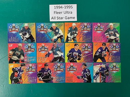 1994-95 Fleer Ultra (All Star Game) 12 Card Set (Hockey)  Box# CC