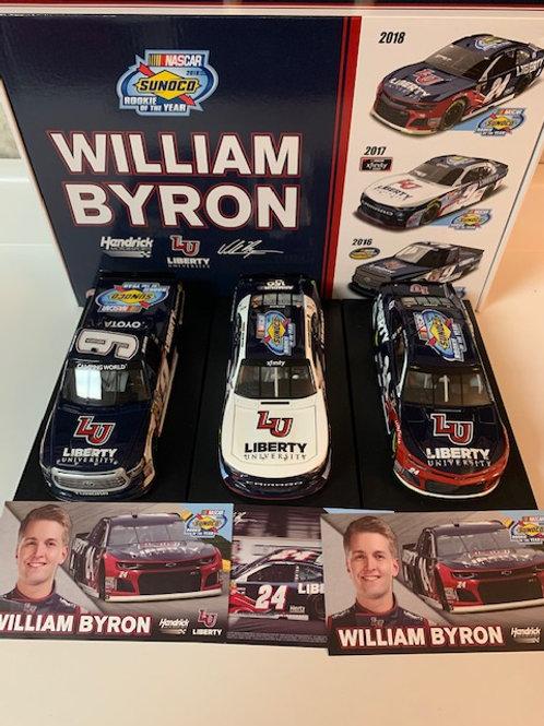 2019  Liberty U Rookie of the Year 3 Car Set / William Byron 1:24 Wall