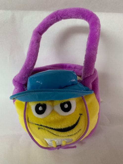 2004 M&M's Screaming Yellow Purple Easter Basket / M&M Stuff Box#1