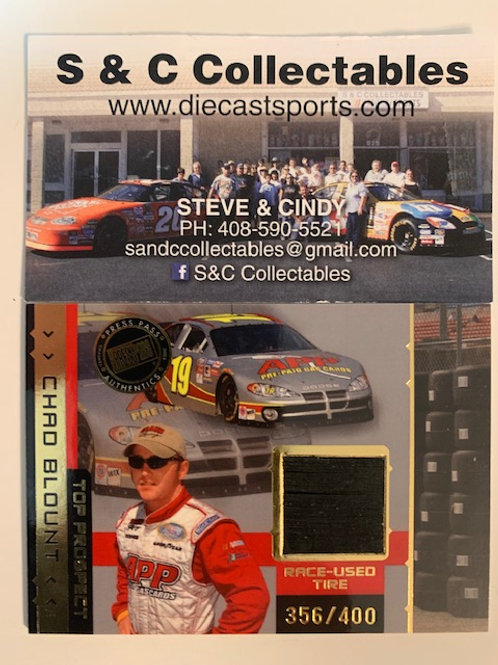 2003 Race-Used Piece of Tire / Chad Blount Cards