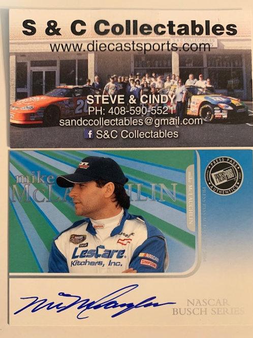 2003 Autographed Press Pass Authentics /  Mike McLaughlin #1  Box# EE