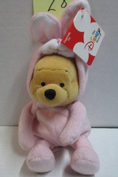 Pink Bunny Rabbit POOH / Disney Beanies