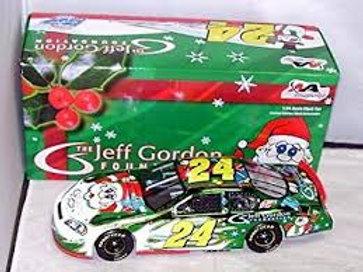 2006 Jeff Gordon Foundation Holiday Chrome Car / Jeff Gordon 1:24