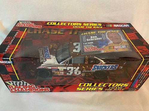 2001 Snickers Cruncher Chrome Chase Car / Ken Schrader  1:24 Shelf