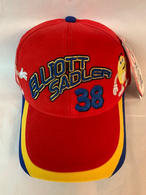 2001 M&M's Brands Screaming Yellow & Mr. Red on Hat / Elliott Sadler Hat#38