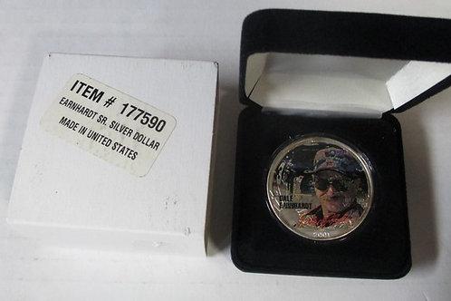 2001 NASCAR U.S Silver Eagle Colorized Dollar / Dale Earnhardt  Sr..