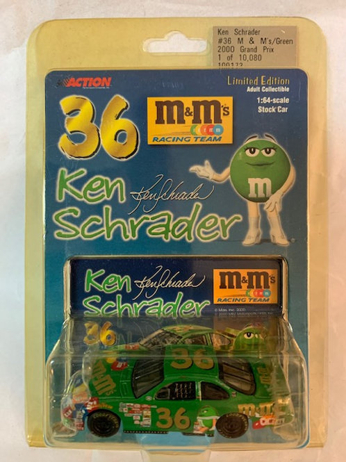 2000 M&M's Ms Green  / Ken Schrader 1:64 Box#13