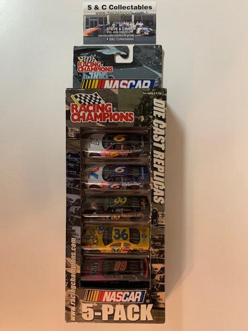 2000 NASCAR 5 Car Set / Various Drivers 1:64 Peg