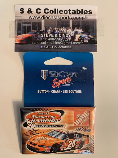 2002 NASCAR Winston Cup Champion 2X4 Pin / Tony Stewart Hat Pin #7