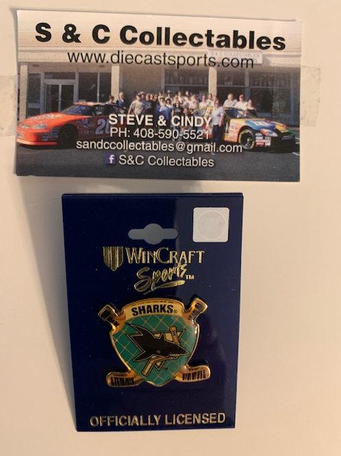 2003 San Jose Sharks Shield Hat Pin Box# 5