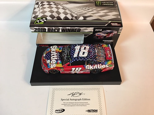 2018 Autographed Skittles RWB Chicagoland Raced Win / Kyle Busch 1:24  Wall