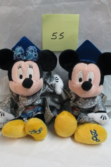2008 Grad Night Mickey & Minnie / Disney Beanies
