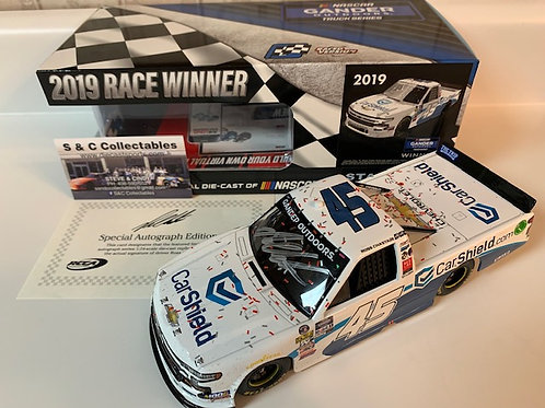 2019 Autographed CarShield Gateway Truck Raced Win  / Ross Chastain 1:24  Wall