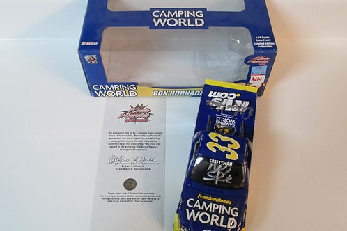 2007  Autographed by the Harvick's Camping World Truck  / Ron Hornaday 1:24 Wall